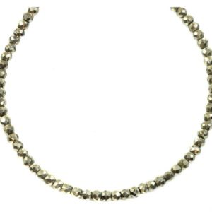 Shop Pyrite Necklaces! Pyrite Necklace 14k Gold Filled Solid Strand Faceted Small Dainty Stones 18 19 Inches Simple Design Natural Golden Bronze Color Vintage Look | Natural genuine Pyrite necklaces. Buy crystal jewelry, handmade handcrafted artisan jewelry for women.  Unique handmade gift ideas. #jewelry #beadednecklaces #beadedjewelry #gift #shopping #handmadejewelry #fashion #style #product #necklaces #affiliate #ad