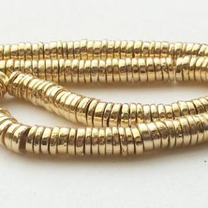 Shop Pyrite Necklaces! 6mm Gold Pyrite Tyre Beads, Gold Pyrite Plain Spacer Beads, Gold Pyrite For Necklace, Gold Pyrite Gems (7IN To 14IN Options) – AGP194 | Natural genuine Pyrite necklaces. Buy crystal jewelry, handmade handcrafted artisan jewelry for women.  Unique handmade gift ideas. #jewelry #beadednecklaces #beadedjewelry #gift #shopping #handmadejewelry #fashion #style #product #necklaces #affiliate #ad