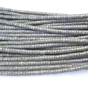 Shop Pyrite Rondelle Beads! heishi pyrite rondelle  beads – 4x6mm gemstone beads – jewelry making beads – rondelle spacer beads – rondelle beads  – 15inch   Natural genuine rondelle Pyrite beads for beading and jewelry making.  #jewelry #beads #beadedjewelry #diyjewelry #jewelrymaking #beadstore #beading #affiliate #ad