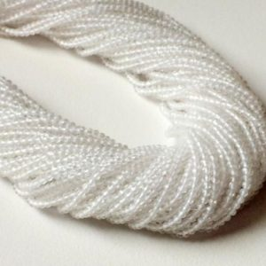 Shop Quartz Crystal Faceted Beads! 2-2.5mm Crystal Quartz Faceted Rondelle Beads, Natural Clear Crystal Quartz Rondelle Beads, 13 Inch Crystal Quartz For Jewelry (1ST To 5ST)   Natural genuine faceted Quartz beads for beading and jewelry making.  #jewelry #beads #beadedjewelry #diyjewelry #jewelrymaking #beadstore #beading #affiliate #ad