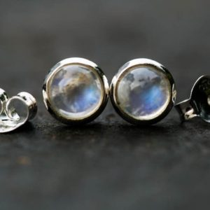 Shop Rainbow Moonstone Earrings! Moonstone 8mm Stud Earrings – Moonstone Earrings – Silver Studs – Moonstone Studs – Rainbow Moonstone earrings – Rainbow Moonstone Studs   Natural genuine Rainbow Moonstone earrings. Buy crystal jewelry, handmade handcrafted artisan jewelry for women.  Unique handmade gift ideas. #jewelry #beadedearrings #beadedjewelry #gift #shopping #handmadejewelry #fashion #style #product #earrings #affiliate #ad