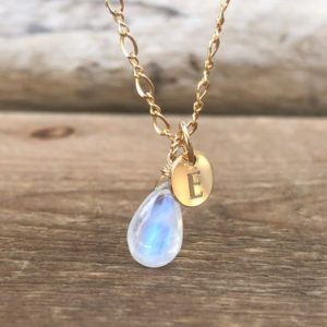Shop Rainbow Moonstone Necklaces! Rainbow Moonstone Necklace – June Birthstone Necklace – Personalized Jewelry – Rainbow Moonstone – Healing Crystal Neckalce  Gift for Her | Natural genuine Rainbow Moonstone necklaces. Buy crystal jewelry, handmade handcrafted artisan jewelry for women.  Unique handmade gift ideas. #jewelry #beadednecklaces #beadedjewelry #gift #shopping #handmadejewelry #fashion #style #product #necklaces #affiliate #ad