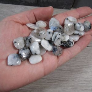 Rainbow Moonstone Very Small Tumbled Stone T176 | Natural genuine stones & crystals in various shapes & sizes. Buy raw cut, tumbled, or polished gemstones for making jewelry or crystal healing energy vibration raising reiki stones. #crystals #gemstones #crystalhealing #crystalsandgemstones #energyhealing #affiliate #ad