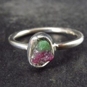 Shop Ruby Zoisite Rings! Raw Ruby In Zoisite Sterling Silver Ring – Size 6 | Natural genuine Ruby Zoisite rings, simple unique handcrafted gemstone rings. #rings #jewelry #shopping #gift #handmade #fashion #style #affiliate #ad