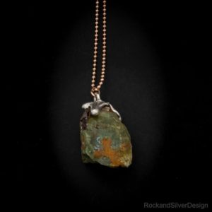 Shop Unakite Pendants! Raw Unakite Sterling Silver Pendant – One-Of-A-Kind – 925   Natural genuine Unakite pendants. Buy crystal jewelry, handmade handcrafted artisan jewelry for women.  Unique handmade gift ideas. #jewelry #beadedpendants #beadedjewelry #gift #shopping #handmadejewelry #fashion #style #product #pendants #affiliate #ad