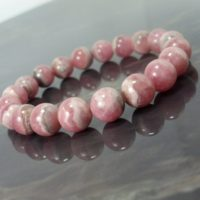Rhodochrosite Bracelet 9mm, Natural Gemstone Bracelet, Unisex Women Mens Bracelet, Beaded Bracelet, Gift For Her / him + Gift Box   Natural genuine Gemstone jewelry. Buy handcrafted artisan men's jewelry, gifts for men.  Unique handmade mens fashion accessories. #jewelry #beadedjewelry #beadedjewelry #shopping #gift #handmadejewelry #jewelry #affiliate #ad