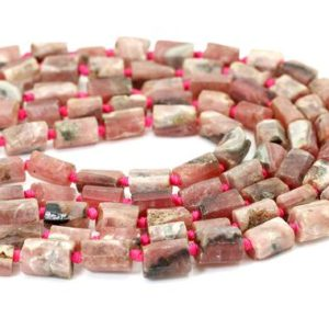 Shop Rhodochrosite Chip & Nugget Beads! Natural Rhodochrosite Rough Cut Nugget Cube Chips Loose Gemstone Assorted Size Beads – PGS328 | Natural genuine chip Rhodochrosite beads for beading and jewelry making.  #jewelry #beads #beadedjewelry #diyjewelry #jewelrymaking #beadstore #beading #affiliate #ad