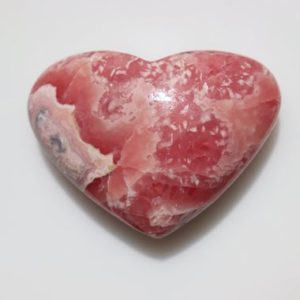 Shop Tumbled Rhodochrosite Crystals & Pocket Stones! Rhodochrosite Heart stone, pink patterns patterned, Natural Gem Pocket Stone, Polished Tumbled Pink Gemmy Crystal, Weight-55 grams.   Natural genuine stones & crystals in various shapes & sizes. Buy raw cut, tumbled, or polished gemstones for making jewelry or crystal healing energy vibration raising reiki stones. #crystals #gemstones #crystalhealing #crystalsandgemstones #energyhealing #affiliate #ad