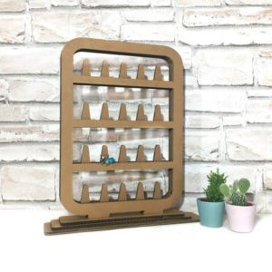 Shop Jewelry Organizers & Earring Racks! Ring display holder, ring organizer, cardboard ring stand, sustainable ring stand, Ring storage, jewelry organizer for craft show, | Shop jewelry making and beading supplies, tools & findings for DIY jewelry making and crafts. #jewelrymaking #diyjewelry #jewelrycrafts #jewelrysupplies #beading #affiliate #ad