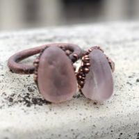 Rose Quartz Ring   Gemstone Ring   Electroformed Ring   Gold Plated Ring   Copper Ring   Ring For Her   Ring For Women [gfs2693]   Natural genuine Gemstone jewelry. Buy crystal jewelry, handmade handcrafted artisan jewelry for women.  Unique handmade gift ideas. #jewelry #beadedjewelry #beadedjewelry #gift #shopping #handmadejewelry #fashion #style #product #jewelry #affiliate #ad