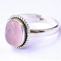 Pink Rose Quartz Ring, Rose Quartz Stone Ring, 925 Sterling Silver, Women Ring, Bohemian Ring, Handmade Ring, Gypsy Ring, Silver Stone Ring | Natural genuine Gemstone jewelry. Buy crystal jewelry, handmade handcrafted artisan jewelry for women.  Unique handmade gift ideas. #jewelry #beadedjewelry #beadedjewelry #gift #shopping #handmadejewelry #fashion #style #product #jewelry #affiliate #ad