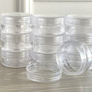 Shop Bead Storage Containers & Organizers! Round Bead Containers 25 pack | Plastic bead containers 1.5 inch diameter | Shop jewelry making and beading supplies, tools & findings for DIY jewelry making and crafts. #jewelrymaking #diyjewelry #jewelrycrafts #jewelrysupplies #beading #affiliate #ad