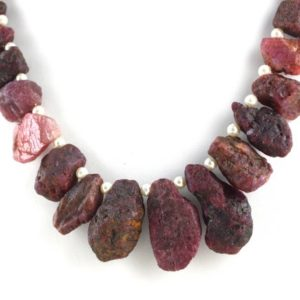Shop Ruby Chip & Nugget Beads! 20 Piece Strand Natural Red Ruby Rough,Rough Ruby,Unpolished Rough,Ruby,10×15-17×28 MM,Genuine Ruby Necklace,Wholesale Price | Natural genuine chip Ruby beads for beading and jewelry making.  #jewelry #beads #beadedjewelry #diyjewelry #jewelrymaking #beadstore #beading #affiliate #ad