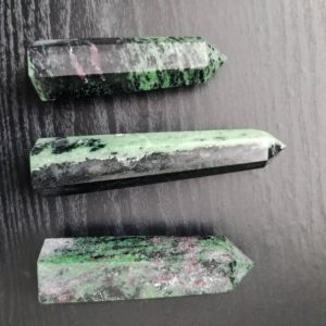 Shop Ruby Zoisite Points & Wands! Ruby in Zoisite Crystal Tower | Witchcraft | Healing Stone | Gemstone Point | Natural genuine stones & crystals in various shapes & sizes. Buy raw cut, tumbled, or polished gemstones for making jewelry or crystal healing energy vibration raising reiki stones. #crystals #gemstones #crystalhealing #crystalsandgemstones #energyhealing #affiliate #ad