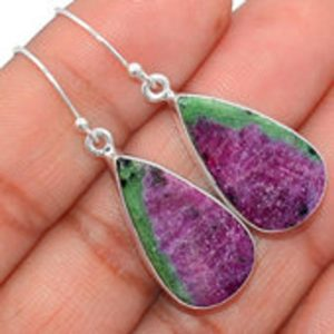 Shop Ruby Zoisite Earrings! Ruby in Zoisite earrings sterling silver – Anyolite earrings – ruby zoisite earrings – ruby in zoisite jewelry – ruby zoisite stone #82   Natural genuine Ruby Zoisite earrings. Buy crystal jewelry, handmade handcrafted artisan jewelry for women.  Unique handmade gift ideas. #jewelry #beadedearrings #beadedjewelry #gift #shopping #handmadejewelry #fashion #style #product #earrings #affiliate #ad
