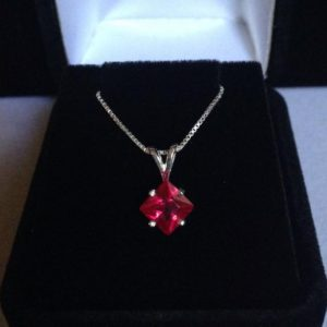 Shop Ruby Pendants! Beautiful Ruby & 14kt Gold or Sterling Silver Solitaire Pendant Necklace Princess Cut Ruby Solitaire Jewelry Trends Jewelry Gifts | Natural genuine Ruby pendants. Buy crystal jewelry, handmade handcrafted artisan jewelry for women.  Unique handmade gift ideas. #jewelry #beadedpendants #beadedjewelry #gift #shopping #handmadejewelry #fashion #style #product #pendants #affiliate #ad