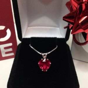 Shop Ruby Pendants! Beautiful Ruby & Sterling Silver Heart Solitaire Pendant Necklace Jewelry Trends and Trending Gemstones Jewelry Valentines Gifts | Natural genuine Ruby pendants. Buy crystal jewelry, handmade handcrafted artisan jewelry for women.  Unique handmade gift ideas. #jewelry #beadedpendants #beadedjewelry #gift #shopping #handmadejewelry #fashion #style #product #pendants #affiliate #ad