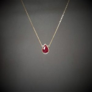 Shop Ruby Pendants! Genuine Ruby Necklace, July Birthstone / Handmade Jewelry / Ruby Pendant, Necklaces for Women, Gold or Silver Necklace, Delicate Layering | Natural genuine Ruby pendants. Buy crystal jewelry, handmade handcrafted artisan jewelry for women.  Unique handmade gift ideas. #jewelry #beadedpendants #beadedjewelry #gift #shopping #handmadejewelry #fashion #style #product #pendants #affiliate #ad