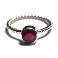 N231 – Ring 925 Sterling Silver And Stone – Ruby 6 Mm Ring Twist | Natural genuine Gemstone jewelry. Buy crystal jewelry, handmade handcrafted artisan jewelry for women.  Unique handmade gift ideas. #jewelry #beadedjewelry #beadedjewelry #gift #shopping #handmadejewelry #fashion #style #product #jewelry #affiliate #ad
