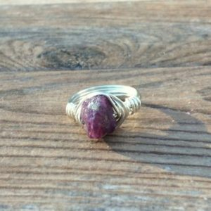 Raw Ruby ring, July birthstone, Sterling Silver or 14k gold filled | Natural genuine Gemstone rings, simple unique handcrafted gemstone rings. #rings #jewelry #shopping #gift #handmade #fashion #style #affiliate #ad