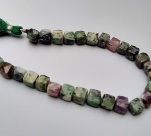 Shop Ruby Zoisite Bead Shapes! Ruby Zoisite Beads Natural Ruby Zoisite Gemstone Faceted Smooth 3D Cube Box Shape Beads 7.5'' inch Long Beads   Natural genuine other-shape Ruby Zoisite beads for beading and jewelry making.  #jewelry #beads #beadedjewelry #diyjewelry #jewelrymaking #beadstore #beading #affiliate #ad