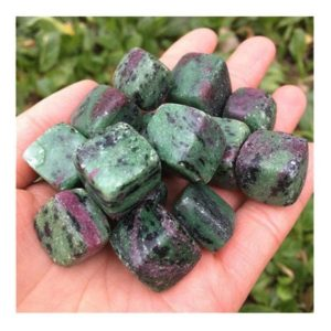 Shop Raw & Rough Ruby Zoisite Stones! Ruby Zoisite Cube Hand Carved Tumbled Crystals, Healing Gemstones For Home Decoration | Natural genuine stones & crystals in various shapes & sizes. Buy raw cut, tumbled, or polished gemstones for making jewelry or crystal healing energy vibration raising reiki stones. #crystals #gemstones #crystalhealing #crystalsandgemstones #energyhealing #affiliate #ad