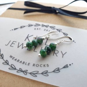 Shop Ruby Zoisite Earrings! Ruby Zoisite Earrings, Sterling Silver Gemstone Jewellery, Gift for Her, Birthday Gift for Friend, Gift for Wife, Healing Jewelry, Mum Gift   Natural genuine Ruby Zoisite earrings. Buy crystal jewelry, handmade handcrafted artisan jewelry for women.  Unique handmade gift ideas. #jewelry #beadedearrings #beadedjewelry #gift #shopping #handmadejewelry #fashion #style #product #earrings #affiliate #ad