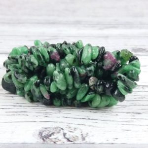 Shop Ruby Zoisite Chip & Nugget Beads! Ruby Zoisite Gemstone Beads, Crystal Chips Bag of 50 Pieces, Reiki Infused A Extra Grade Ruby Zoisite Beads   Natural genuine chip Ruby Zoisite beads for beading and jewelry making.  #jewelry #beads #beadedjewelry #diyjewelry #jewelrymaking #beadstore #beading #affiliate #ad