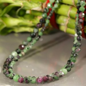 Shop Ruby Zoisite Necklaces! Ruby Zoisite Necklace | Natural genuine Ruby Zoisite necklaces. Buy crystal jewelry, handmade handcrafted artisan jewelry for women.  Unique handmade gift ideas. #jewelry #beadednecklaces #beadedjewelry #gift #shopping #handmadejewelry #fashion #style #product #necklaces #affiliate #ad