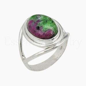 Shop Ruby Zoisite Rings! Natural Ruby Zoisite Ring, Women's Jewelry, 925 Sterling Silver, Oval Gemstone, Statement Ring, Silver Band Ring, Cabochon Gemstone, Sale | Natural genuine Ruby Zoisite rings, simple unique handcrafted gemstone rings. #rings #jewelry #shopping #gift #handmade #fashion #style #affiliate #ad