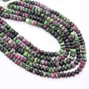Shop Ruby Zoisite Rondelle Beads! Ruby Zoisite smooth rondelle beads Ruby Zoisite beads strand Ruby Zoisite plain gemstone beads Ruby Zoisite Natural beads | Natural genuine rondelle Ruby Zoisite beads for beading and jewelry making.  #jewelry #beads #beadedjewelry #diyjewelry #jewelrymaking #beadstore #beading #affiliate #ad