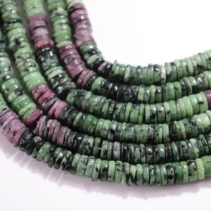 Ruby Zoisite Tyre Shape Beads, Natural Ruby Zoisite Donut/Ring Shape Beads, Ruby Zoisite Spacer Beads, AAA Ruby Zoisite Beads Strand | Natural genuine beads Gemstone beads for beading and jewelry making.  #jewelry #beads #beadedjewelry #diyjewelry #jewelrymaking #beadstore #beading #affiliate #ad