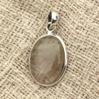 N2 – 925 Sterling Silver Pendant And Stone – Rutile Quartz Oval 21x16mm   Natural genuine Gemstone jewelry. Buy crystal jewelry, handmade handcrafted artisan jewelry for women.  Unique handmade gift ideas. #jewelry #beadedjewelry #beadedjewelry #gift #shopping #handmadejewelry #fashion #style #product #jewelry #affiliate #ad
