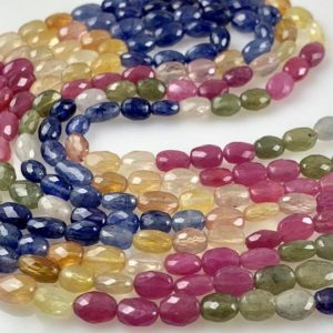 Shop Sapphire Chip & Nugget Beads! 1/2 strand semi precious multi sapphire nuggets | Natural genuine chip Sapphire beads for beading and jewelry making.  #jewelry #beads #beadedjewelry #diyjewelry #jewelrymaking #beadstore #beading #affiliate #ad