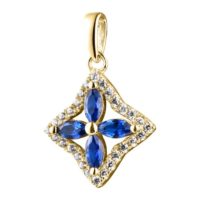 Sapphire Pendant Necklace In 14k Gold-natrual Sapphire With Diamonds. Free Shipping In The Usa | Natural genuine Gemstone jewelry. Buy crystal jewelry, handmade handcrafted artisan jewelry for women.  Unique handmade gift ideas. #jewelry #beadedjewelry #beadedjewelry #gift #shopping #handmadejewelry #fashion #style #product #jewelry #affiliate #ad