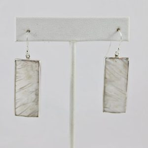 Shop Scolecite Earrings! Scolecite White Drop Sterling Silver 925 Hook Earrings | Natural genuine Scolecite earrings. Buy crystal jewelry, handmade handcrafted artisan jewelry for women.  Unique handmade gift ideas. #jewelry #beadedearrings #beadedjewelry #gift #shopping #handmadejewelry #fashion #style #product #earrings #affiliate #ad