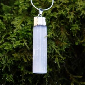 Shop Selenite Necklaces! Selenite necklace   Natural genuine Selenite necklaces. Buy crystal jewelry, handmade handcrafted artisan jewelry for women.  Unique handmade gift ideas. #jewelry #beadednecklaces #beadedjewelry #gift #shopping #handmadejewelry #fashion #style #product #necklaces #affiliate #ad