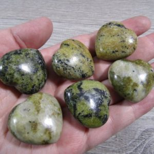 Shop Serpentine Stones & Crystals! Serpentine Stone Shaped Heart K 386 | Natural genuine stones & crystals in various shapes & sizes. Buy raw cut, tumbled, or polished gemstones for making jewelry or crystal healing energy vibration raising reiki stones. #crystals #gemstones #crystalhealing #crystalsandgemstones #energyhealing #affiliate #ad