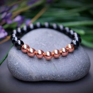 Pre-Order Petrovsky + Copper Bracelet Superior Shungite Magnified Healing EMF 5G Protection Inflammation Blood Circulation Health SKU#M10009 | Natural genuine Array bracelets. Buy crystal jewelry, handmade handcrafted artisan jewelry for women.  Unique handmade gift ideas. #jewelry #beadedbracelets #beadedjewelry #gift #shopping #handmadejewelry #fashion #style #product #bracelets #affiliate #ad