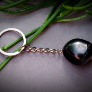 Shop Shungite Shapes! Shungite EMF 5G  Protection 0.75in. Tumble Pebble Keychain Black Crystal Healing Key Chain Travel Gifts | Natural genuine stones & crystals in various shapes & sizes. Buy raw cut, tumbled, or polished gemstones for making jewelry or crystal healing energy vibration raising reiki stones. #crystals #gemstones #crystalhealing #crystalsandgemstones #energyhealing #affiliate #ad