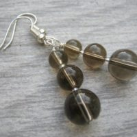Smoky Quartz Earrings, Gemstone Dangle Earrings, Grey Brown Gemstone Earrings, Nature Jewelry, Sterling Silver Option, Root Chakra Jewelry | Natural genuine Gemstone jewelry. Buy crystal jewelry, handmade handcrafted artisan jewelry for women.  Unique handmade gift ideas. #jewelry #beadedjewelry #beadedjewelry #gift #shopping #handmadejewelry #fashion #style #product #jewelry #affiliate #ad