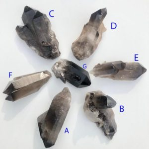 Shop Raw & Rough Smoky Quartz Stones! Raw Smoky Quartz Cluster – YOU Choose YOUR Cluster- A Grade Collector Quality – Healing Crystals & Stones –  Smoky Quartz Crystal Cluster | Natural genuine stones & crystals in various shapes & sizes. Buy raw cut, tumbled, or polished gemstones for making jewelry or crystal healing energy vibration raising reiki stones. #crystals #gemstones #crystalhealing #crystalsandgemstones #energyhealing #affiliate #ad