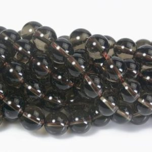 natural smoky quartz smooth round beads – smoky quartz stone – smokey quartz gemstone beads – brown smooth round beads -4mm-14mm -15inch | Natural genuine round Gemstone beads for beading and jewelry making.  #jewelry #beads #beadedjewelry #diyjewelry #jewelrymaking #beadstore #beading #affiliate #ad