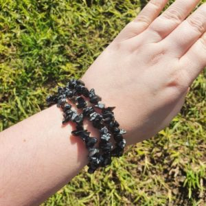 Shop Snowflake Obsidian Bracelets! Snowflake Obsidian Chip Elastic Bracelet | Natural genuine Snowflake Obsidian bracelets. Buy crystal jewelry, handmade handcrafted artisan jewelry for women.  Unique handmade gift ideas. #jewelry #beadedbracelets #beadedjewelry #gift #shopping #handmadejewelry #fashion #style #product #bracelets #affiliate #ad
