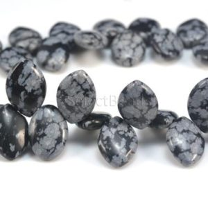 Shop Snowflake Obsidian Stones & Crystals! snowflake obsidian, marquoise shape bead, 12x8mm, craft supplies,  jewelry making, loose bead, stone bead,  loose gemstone, diy bead–8inch | Natural genuine stones & crystals in various shapes & sizes. Buy raw cut, tumbled, or polished gemstones for making jewelry or crystal healing energy vibration raising reiki stones. #crystals #gemstones #crystalhealing #crystalsandgemstones #energyhealing #affiliate #ad