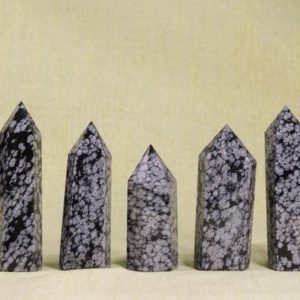 Shop Snowflake Obsidian Points & Wands! Snowflake Obsidian Tower Polished Stone Point Natural Gemstone Tower/Jewelry Making/Miners Specimen/Size Approx: 60~100 mm | Natural genuine stones & crystals in various shapes & sizes. Buy raw cut, tumbled, or polished gemstones for making jewelry or crystal healing energy vibration raising reiki stones. #crystals #gemstones #crystalhealing #crystalsandgemstones #energyhealing #affiliate #ad