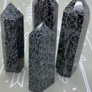 Shop Snowflake Obsidian Points & Wands! Snowflake Obsidian Towers | Natural genuine stones & crystals in various shapes & sizes. Buy raw cut, tumbled, or polished gemstones for making jewelry or crystal healing energy vibration raising reiki stones. #crystals #gemstones #crystalhealing #crystalsandgemstones #energyhealing #affiliate #ad