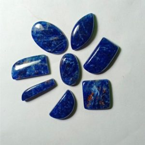 Shop Sodalite Cabochons! 8 Pcs. Lot Sodalite Cabochons,Lot Sodalite Gemstone,Lot Sodalite Loose Stone,Lot Sodalite Semi Precious.  127 Cts   Natural genuine stones & crystals in various shapes & sizes. Buy raw cut, tumbled, or polished gemstones for making jewelry or crystal healing energy vibration raising reiki stones. #crystals #gemstones #crystalhealing #crystalsandgemstones #energyhealing #affiliate #ad