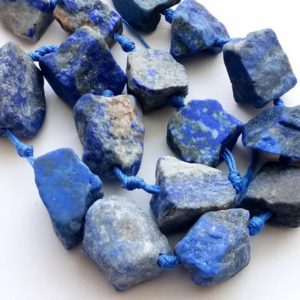 Shop Sodalite Chip & Nugget Beads! 22-25mm Huge Raw Sodalite Stone, Natural Loose Rough Gemstone, Sodalite Rough Nugget Bead, Sodalite For Jelwery (8Pc To 16Pc Option)- PUSNT5   Natural genuine chip Sodalite beads for beading and jewelry making.  #jewelry #beads #beadedjewelry #diyjewelry #jewelrymaking #beadstore #beading #affiliate #ad
