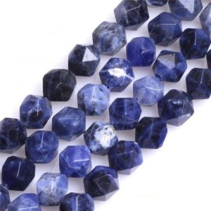 Blue Sodalite Beads, Natural Gemstone Beads, Nugget Faceted Beads, Stone Beads 6mm 8mm 10mm 12mm 15'' | Natural genuine beads Array beads for beading and jewelry making.  #jewelry #beads #beadedjewelry #diyjewelry #jewelrymaking #beadstore #beading #affiliate #ad